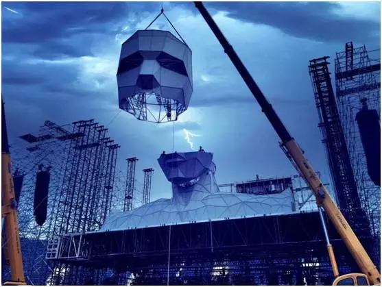 巨人来袭,科技感炸裂-汪峰鸟巢演唱会舞台设计
