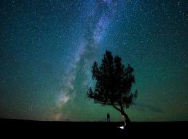 夜晚,看满天繁星