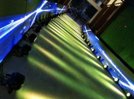 led大屏显示走廊