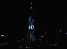 世界最高楼首秀——迪拜哈利法塔跨年激光表演